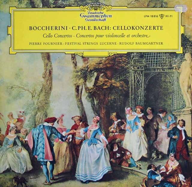 【モノラル】 フルニエ&バウムガルトナーのボッケリーニ/チェロ協奏曲ほか 独DGG 3225 LP レコード