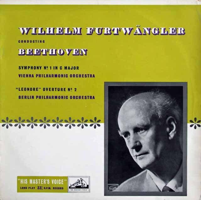 【オリジナル盤】 フルトヴェングラーのベートーヴェン/交響曲第1番ほか 英EMI 3225 LP レコード