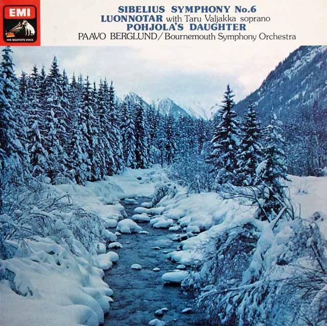 【オリジナル盤】 ベルグルンドのシベリウス/交響曲第6番ほか 英EMI 3225 LP レコード