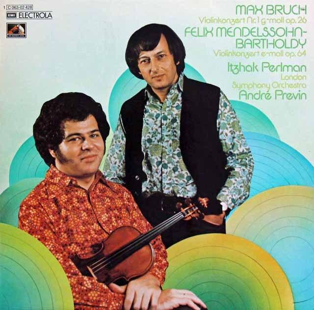パールマン & プレヴィンのメンデルスゾーン & ブルッフ/ヴァイオリン協奏曲 独EMI 3225 LP レコード