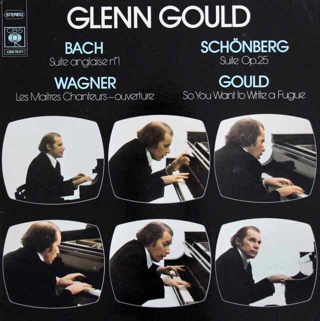 グールドのバッハ、グールド、ワーグナー、シェーンベルク作品集 仏CBS 3225 LP レコード
