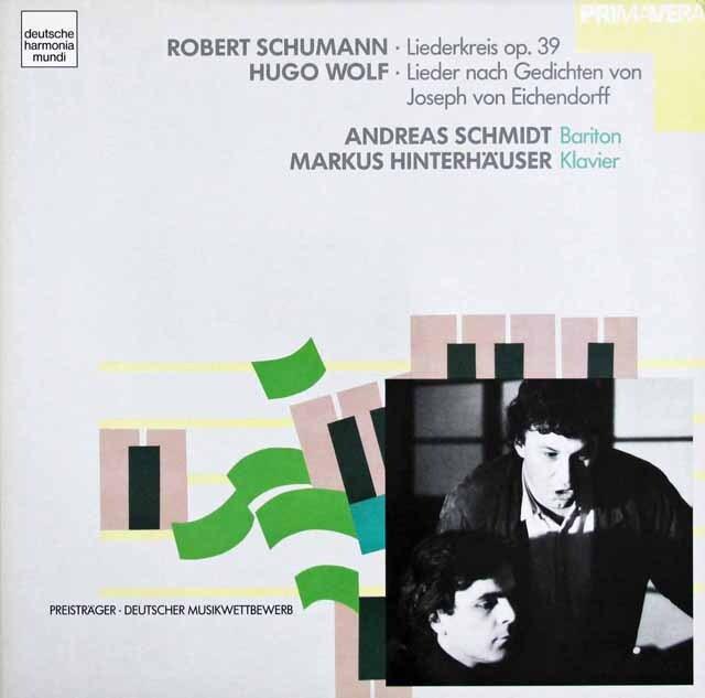 A.シュミットのシューマン/「リーダークライス」ほか 独HM 3225 LP レコード