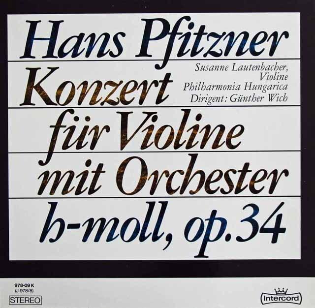 ラウテンバッハーのプフィッツナー/ヴァイオリン協奏曲 独intercord   3225 LP レコード