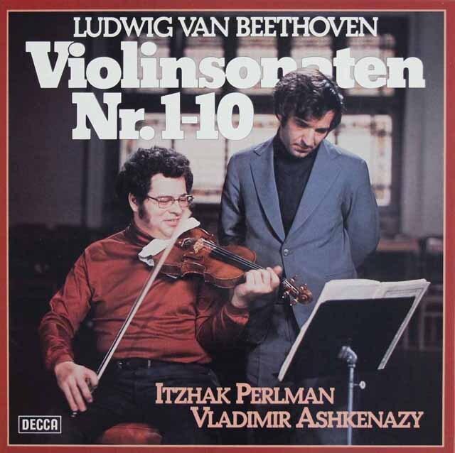 パールマン&アシュケナージのベートーヴェン/ヴァイオリンソナタ全集 独DECCA 3225 LP レコード