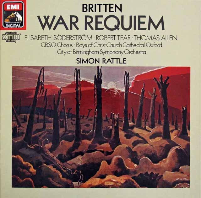 ラトルのブリテン/「戦争レクイエム」  独EMI 3225 LP レコード