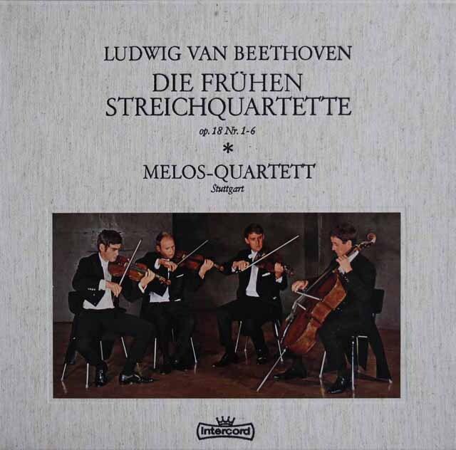 メロス四重奏団のベートーヴェン/初期弦楽四重奏曲集 独Intercord 3225 LP レコード