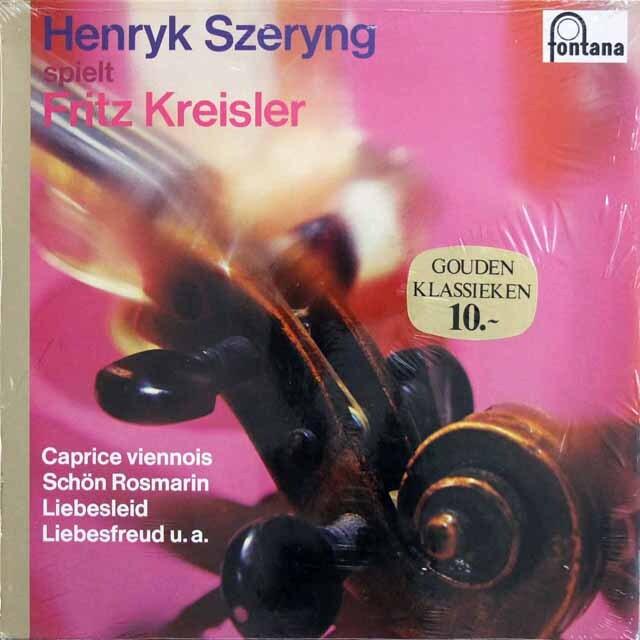 【未開封】 シェリング、クライスラーを弾く 蘭(?)fontana 3226 LP レコード