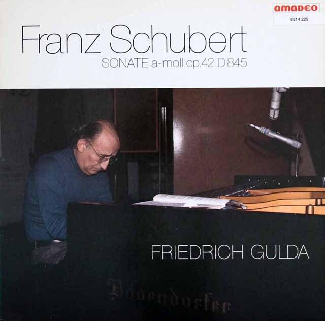 グルダのシューベルト/ピアノソナタ第16番ほか オーストリアanadeo 3226 LP レコード