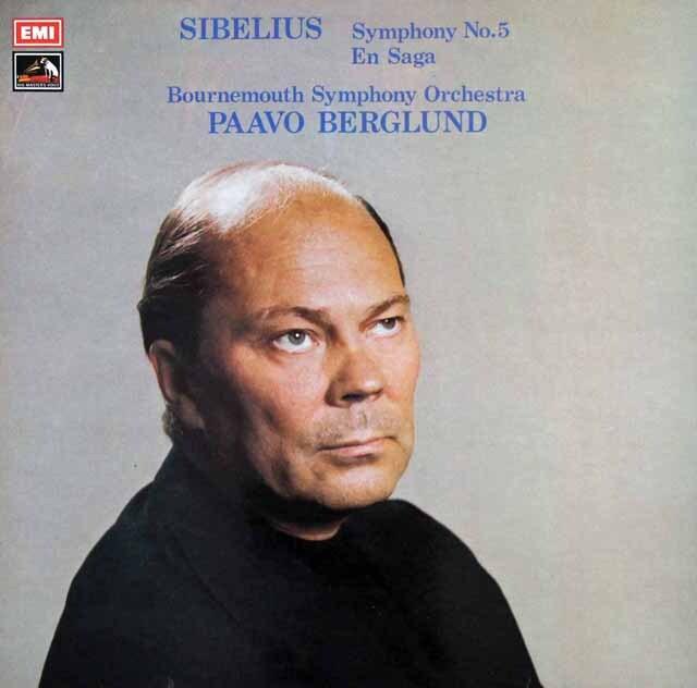 【オリジナル盤】 ベルグルンドのシベリウス/交響曲第5番&「エン・サガ」 英EMI 3226 LP レコード