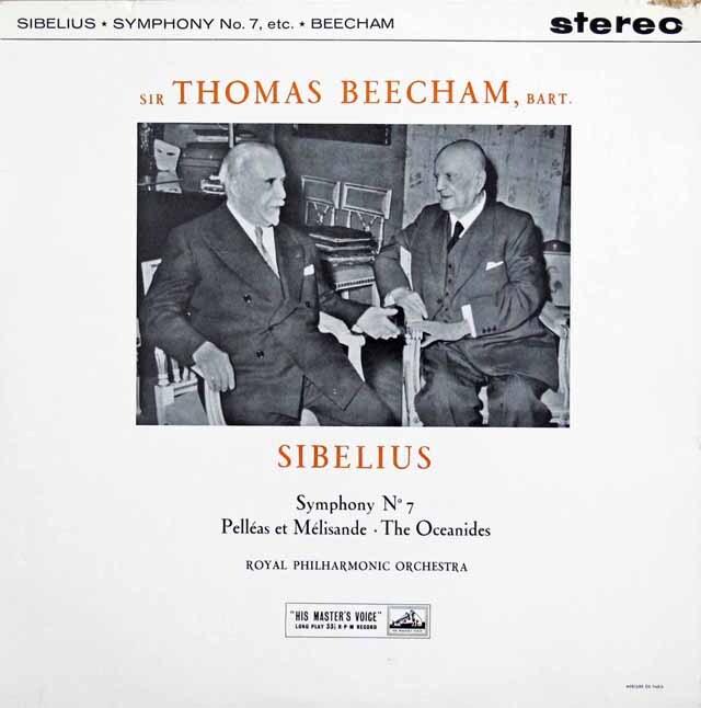 【オリジナル盤】 ビーチャムのシベリウス/交響曲第7番&「ペレアスとメリザンド」ほか 英EMI 3226 LP レコード