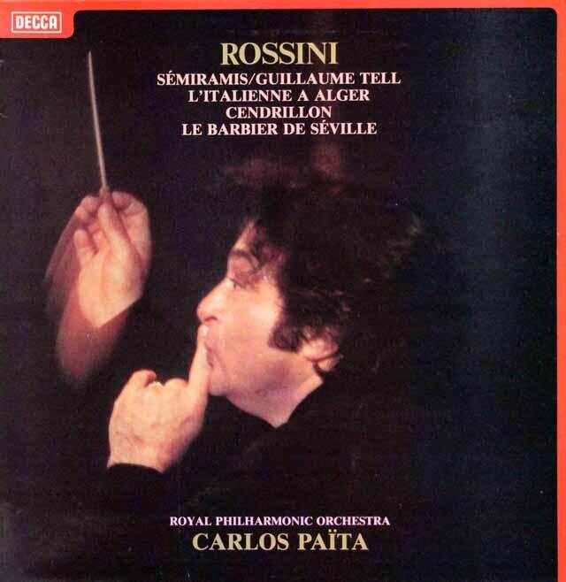 パイタのロッシーニ/「ウィリアム・テル」ほか序曲集 仏DECCA 3226 LP レコード
