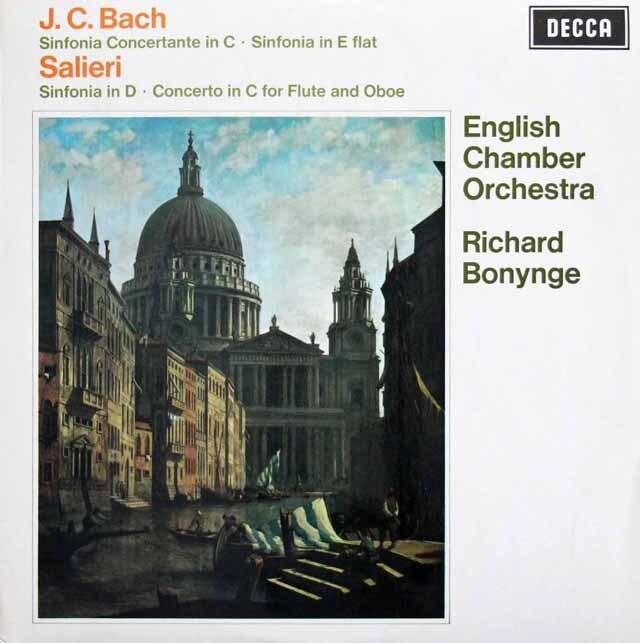 【オリジナル盤】 ボニングのバッハ/協奏交響曲ほか 英DECCA 3226 LP レコード