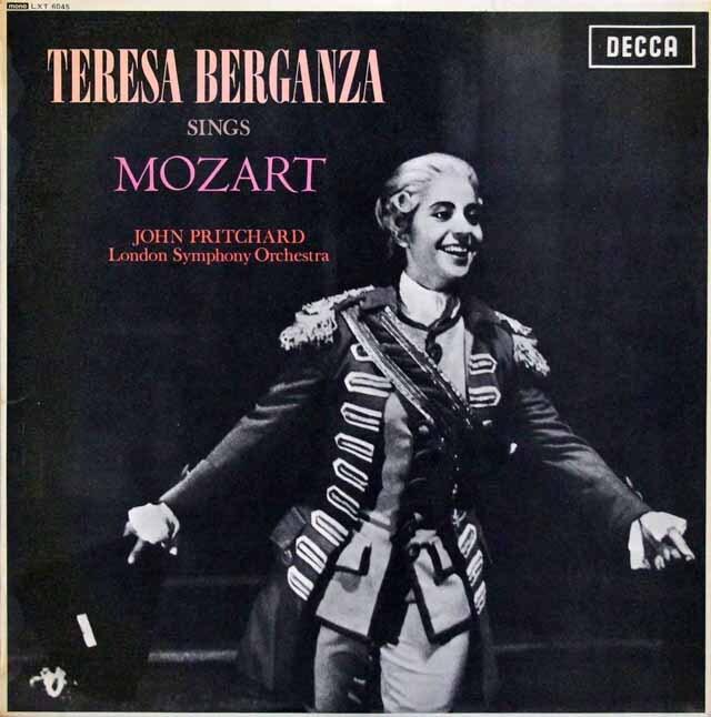 【特価・オリジナル盤】 ベルガンサ、モーツァルトを歌う 英DECCA 3226 LP レコード