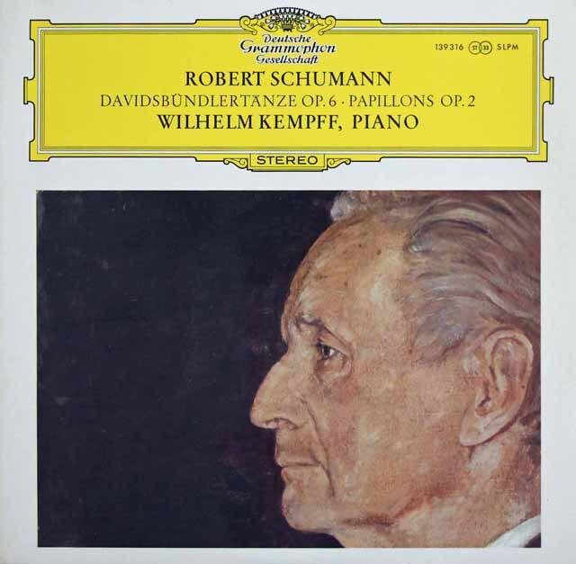 ケンプのシューマン/「ダビッド同盟舞曲集」ほか 独DGG 3226 LP レコード