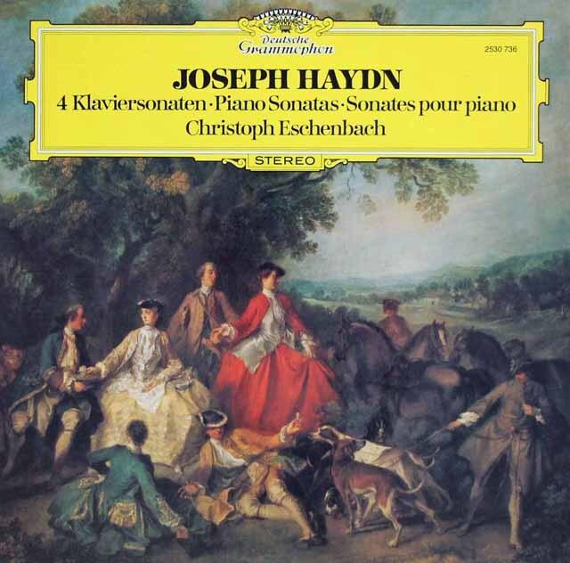 エッシェンバッハのハイドン/ピアノソナタ第34~37番 独DGG 3226 LP レコード