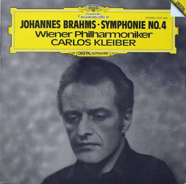 クライバーのブラームス/交響曲第4番 独DGG 3226 LP レコード