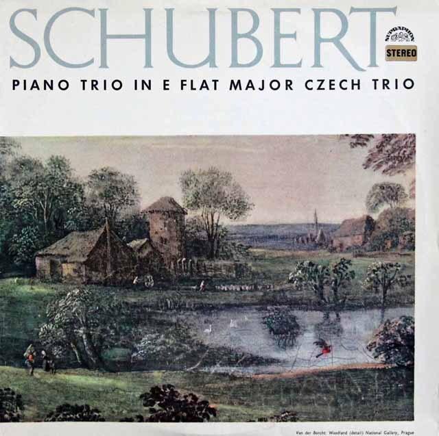 チェコ・トリオのシューベルト/ピアノ三重奏曲第2番 チェコスロヴァキアSUPRAPHON 3226 LP レコード