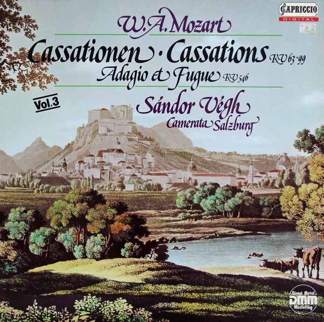 ヴェーグのモーツァルト/カッサシオン&アダージョとフーガ 独CAPRICCIO 3227 LP レコード