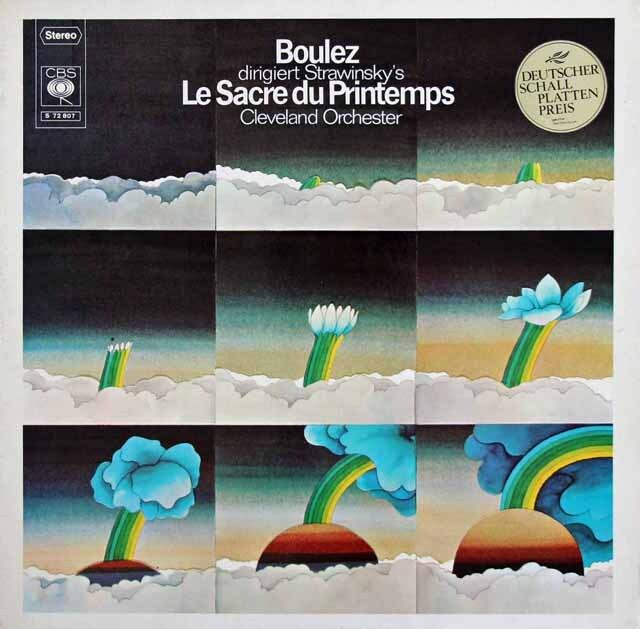 ブーレーズのストラヴィンスキー/「春の祭典」 独CBS 3227 LP レコード