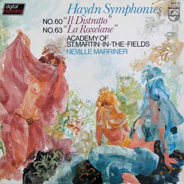 マリナーのハイドン/交響曲「迂闊者」&「ラ・ロクスラーヌ」 蘭PHILIPS 3227 LP レコード