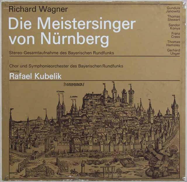 【非売品LP】 クーベリックのワーグナー/「ニュルンベルクのマイスタージンガー」全曲 独BR 3227 LP レコード
