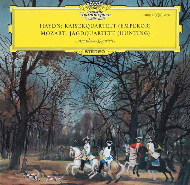 アマデウス四重奏団のハイドン/「皇帝」&モーツァルト/「狩」 独DGG 3227 LP レコード
