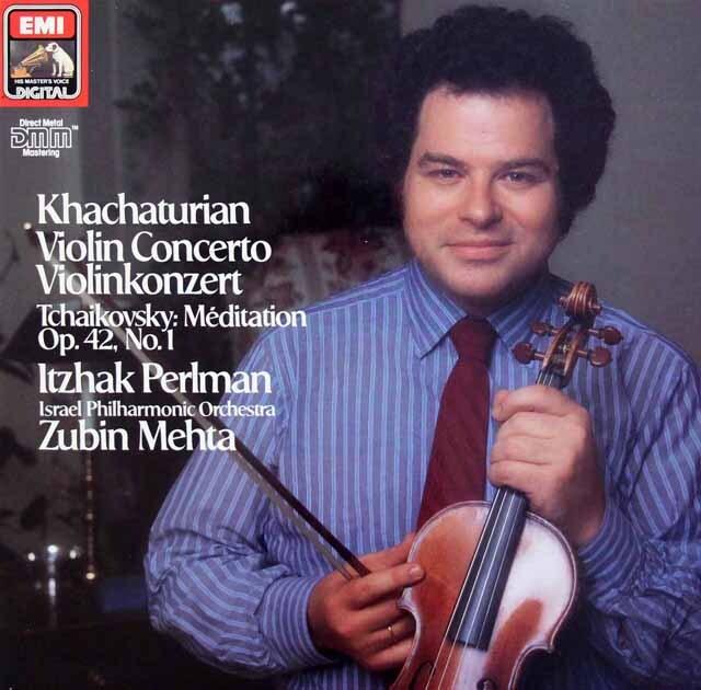 パールマン&メータのハチャトゥリアン/ヴァイオリン協奏曲ほか 独EMI 3227 LP レコード