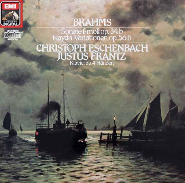 エッシェンバッハ&フランツのブラームス/2台のピアノのためのソナタ 独EMI 3227 LP レコード