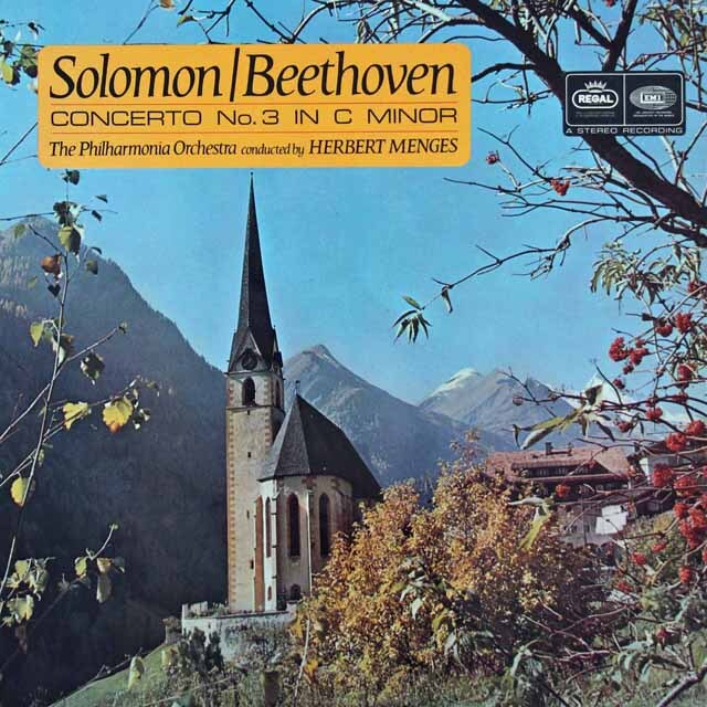 ソロモンのベートーヴェン/ピアノ協奏曲 第3番ほか  英EMI 3227 LP レコード