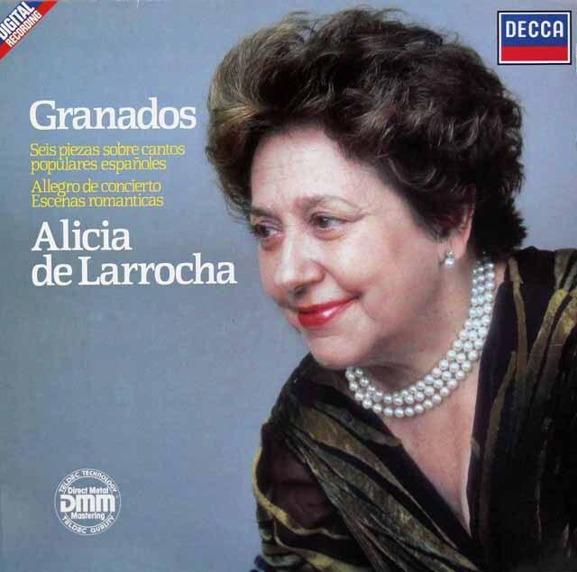 デ・ラローチャのグラナドス/ピアノ作品集 独DECCA 3227 LP レコード