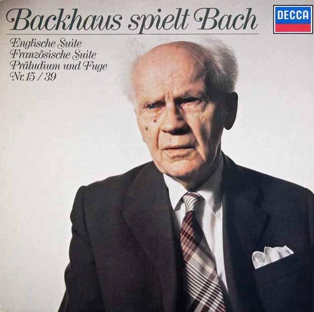 バックハウスのバッハ/作品集 独DECCA 3227 LP レコード