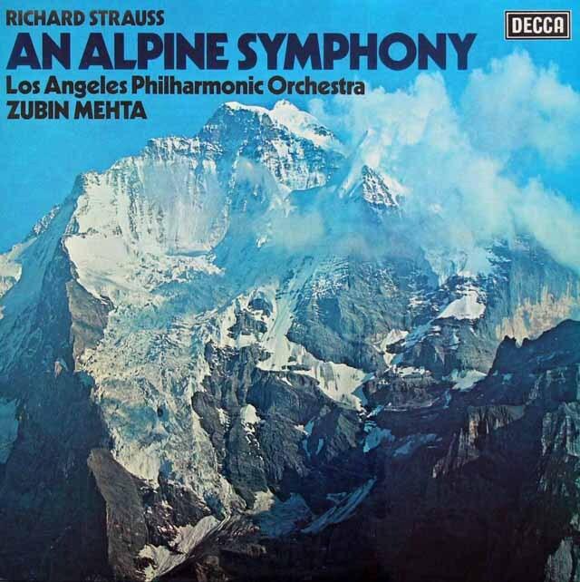 【オリジナル盤】 メータのR.シュトラウス/アルプス交響曲 英DECCA 3227 LP レコード