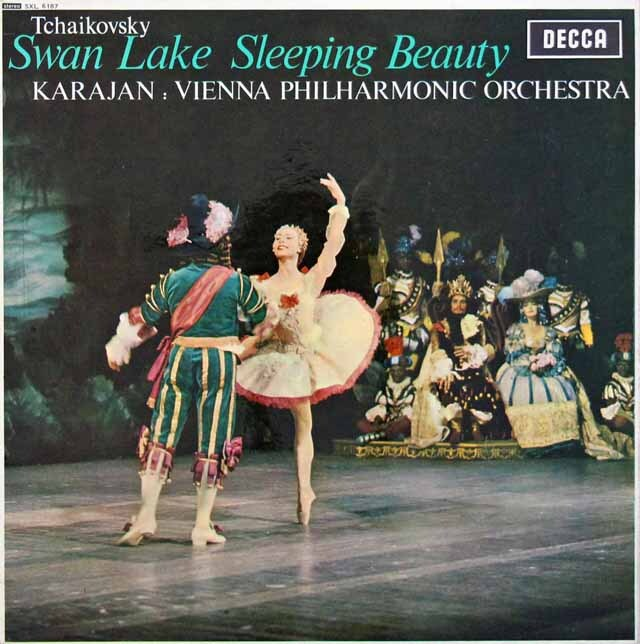 カラヤンのチャイコフスキー/「白鳥の湖」&「眠りの森の美女」組曲 英DECCA 3227 LP レコード