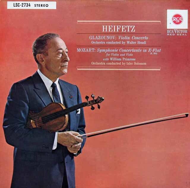 ハイフェッツのグラズノフ/ヴァイオリン協奏曲ほか 独RCA 3227 LP レコード