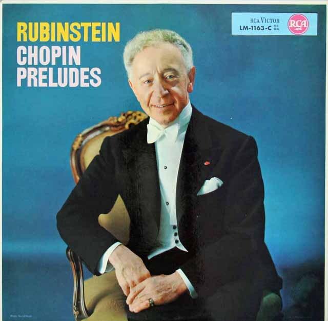 ルービンシュタインのショパン/24の前奏曲 独RCA 3227 LP レコード