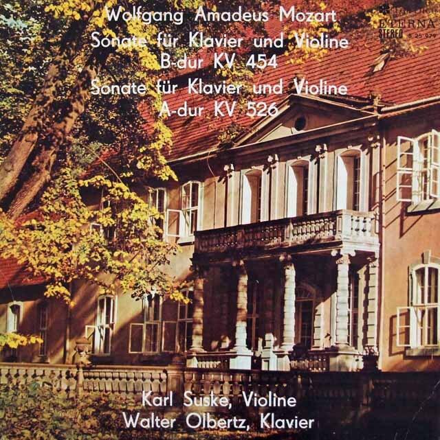 ズスケ&オルベルツのモーツァルト/ヴァイオリンソナタ K.454、K.526 独ETERNA 3227 LP レコード