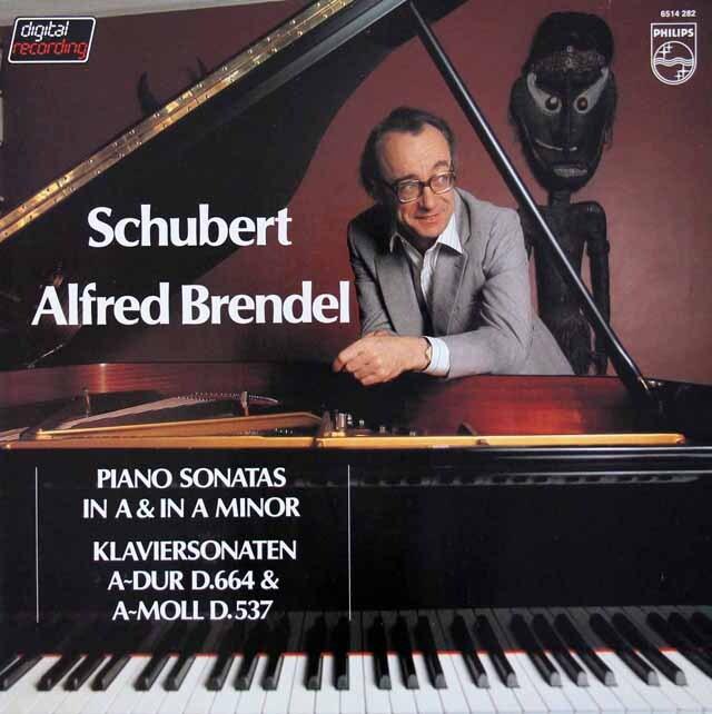ブレンデルのシューベルト/ピアノソナタ第4&13番 蘭PHILIPS 3228 LP レコード