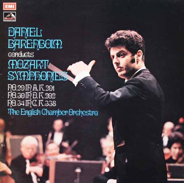 【オリジナル盤】 バレンボイムのモーツァルト/交響曲第29、30、34番 英EMI 3228 LP レコード