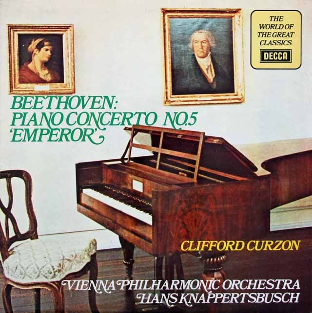 カーゾン & クナッパーツブッシュのベートーヴェン/ピアノ協奏曲第5番「皇帝」 英DECCA 3228 LP レコード