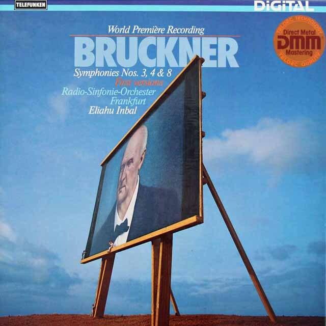インバルのブルックナー/交響曲第3番、第4番「ロマンティック」、第8番 独TELEFUNKEN 3228 LP レコード