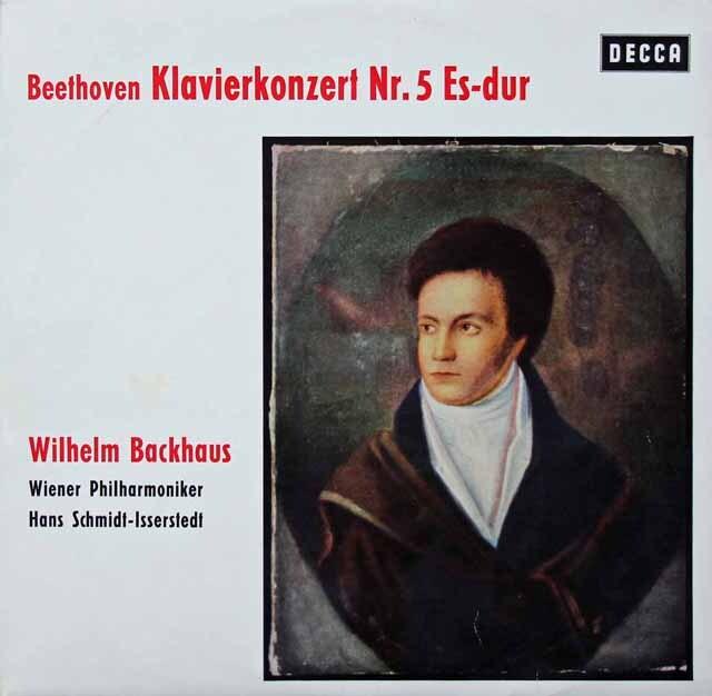 バックハウス&イッセルシュテットのベートーヴェン/ピアノ協奏曲第5番「皇帝」 独DECCA 3228 LP レコード