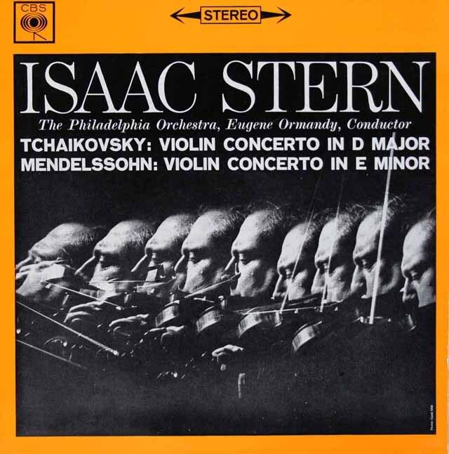 スターン&オーマンディのメンデルスゾーン&チャイコフスキー/ヴァイオリン協奏曲集 英CBS 3228 LP レコード