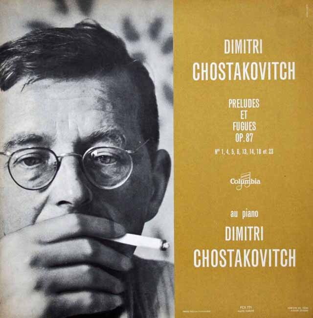 ショスタコーヴィチ自作自演/前奏曲とフーガ 仏Columbia 3228 LP レコード