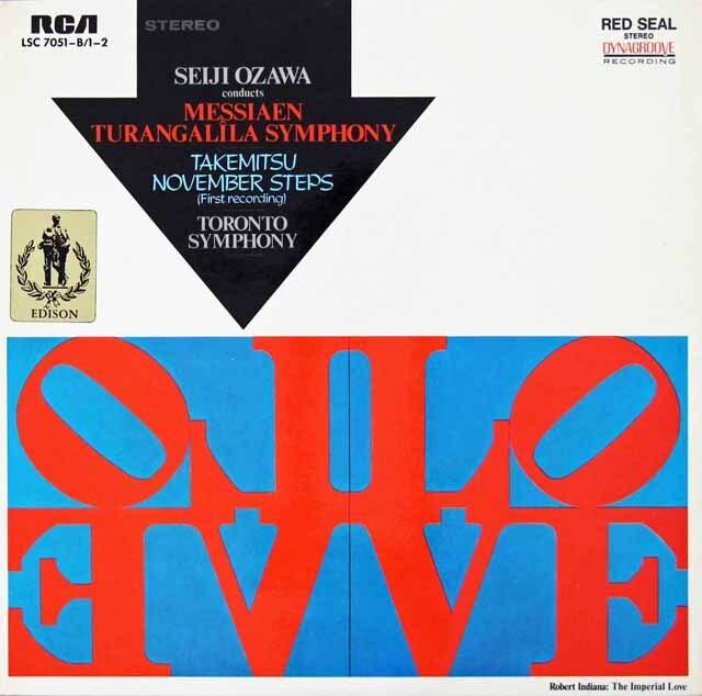 小澤のメシアン/トゥーランガリラ交響曲ほか 独RCA 3228 LP レコード