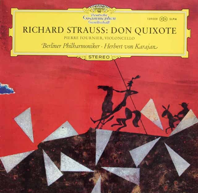 フルニエ&カラヤンのR.シュトラウス/交響詩「ドン・キホーテ」 独DGG 3229 LP レコード