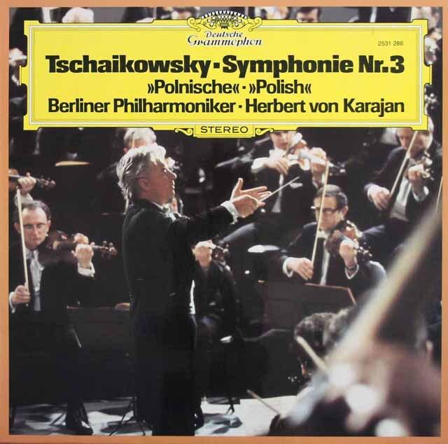 カラヤンのチャイコフスキー/交響曲第3番「ポーランド」 独DGG 3229 LP レコード