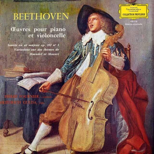 フルニエ&グルダのベートーヴェン/チェロソナタ第4番ほか 仏DGG 3229 LP レコード