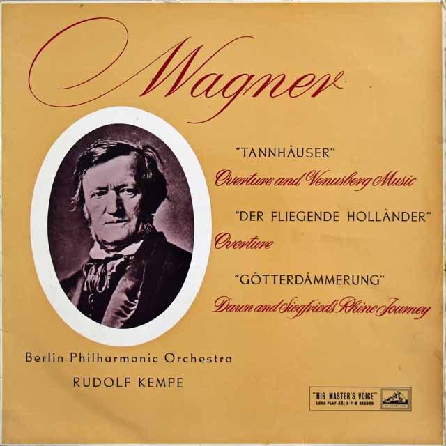 【オリジナル盤】 ケンペのワーグナー/管弦楽曲集(タンホイザー」、「さまよえるオランダ人」、「神々の黄昏」からの音楽) 英EMI(HMV) 3229 LP レコード
