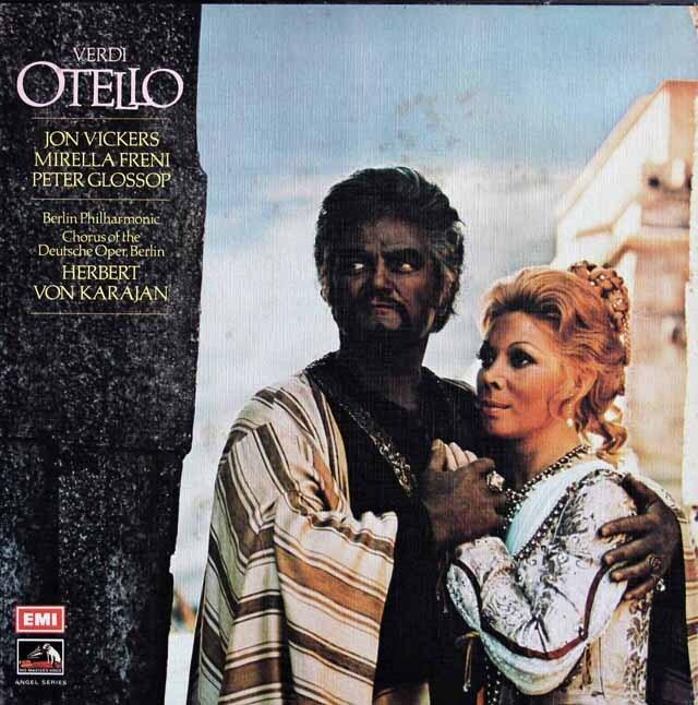 カラヤンのヴェルディ/「オテロ」全曲 英EMI 3229 LP レコード