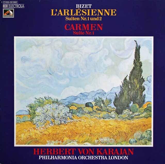 カラヤンのビゼー/「アルルの女」&「カルメン」組曲 独EMI 3229 LP レコード